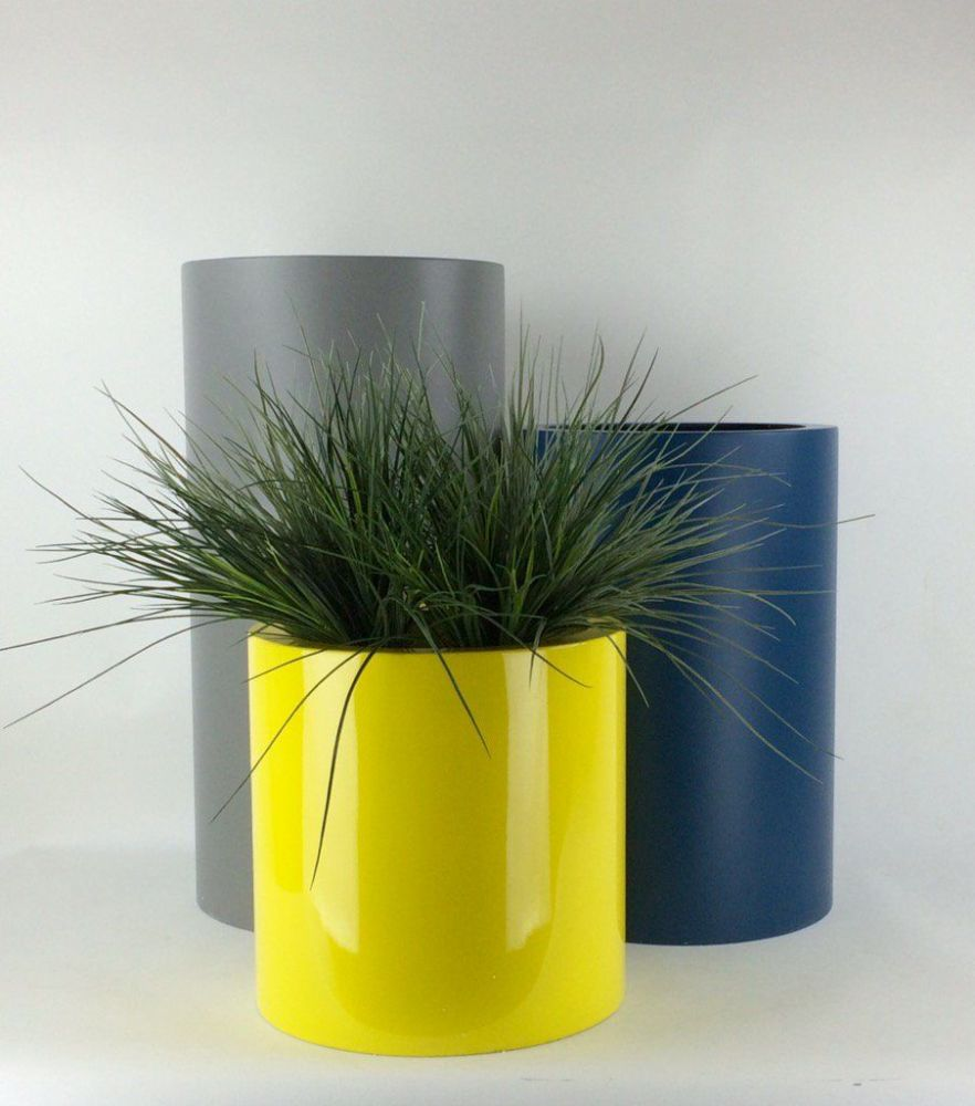 Tall Cylinder Planters GRP From potstorecouk